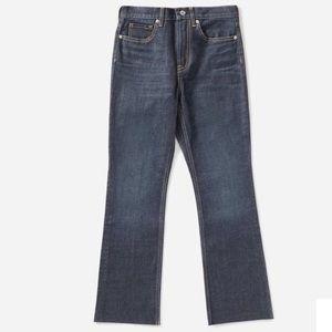 Everlane Dark-wash Kick Crop jeans